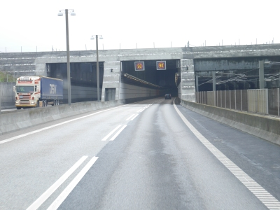 Denmark and into the tunnel