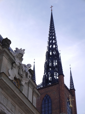 Wrought iron church steeple