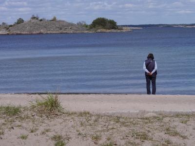 Our lunchtime Sandhamn beach