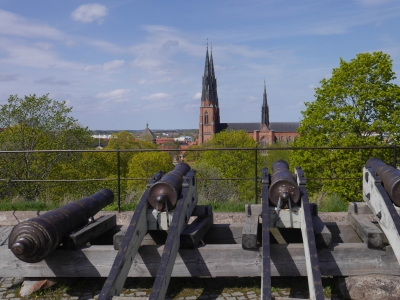 King Gustav Vasa brought in Lutheranism and trained his castle cannon on the Church to keep the Bishops in order