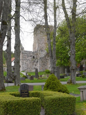 St Olaf ruins, one of the 3 of seven remaining Medieval churches.