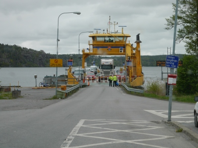 First Swedish ferry, as a car :)