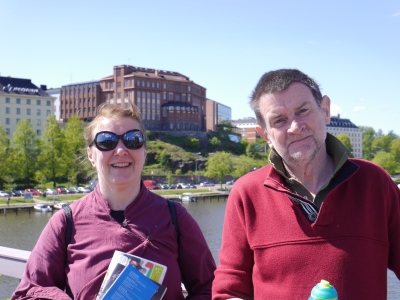 Irmeli and James:  our Helsinki Greeter