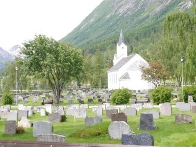 Typical church with extremely well tended graveyard