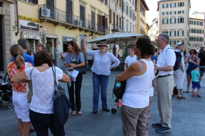 With the tour guide in Florence