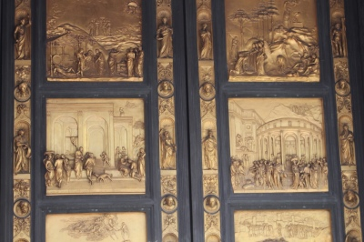 Basilica's doors that Michelangelo dubbed the Gates of Paradise
