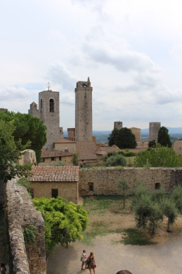 Distinctive towers of San Gimignano