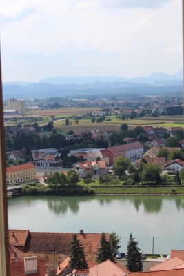 Views over the Drava river