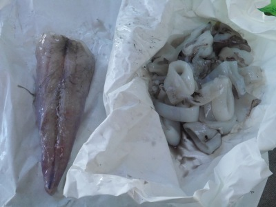 Monkfish tail and squid :)