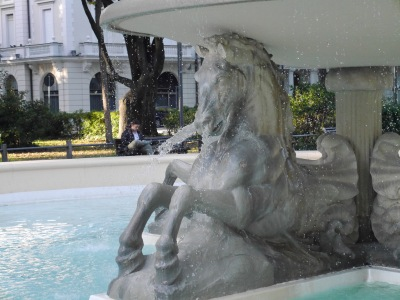 A Rimini fountain ... not often you see horses snorting from their nostrils!
