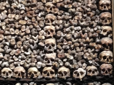 Skulls look like childrens, but people so much smaller then. Other bone decorated chapels exist .. should we seek them out?