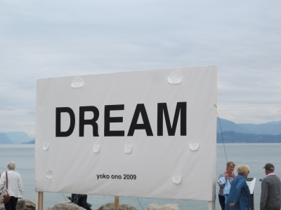 By Yoko Ono ... we had one simultaneous thought ... WE'RE LIVING IT!