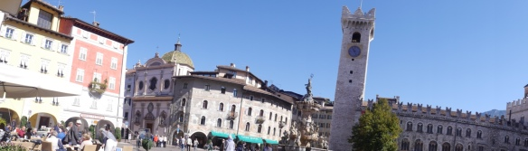 The main Piazza and out lunch view