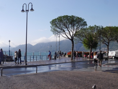 Watery view from our Iseo ice cream stop
