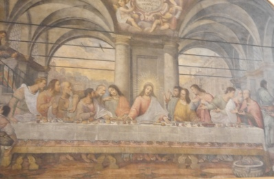 We did not pre-book to see da Vinci's Last Supper and it would have been expensive for a timed 15 min viewing .. and as he did not paint onto wet plater fresco style, it degraded in his lifetime. It has been much restored and purists argue there is little left of HIM. This is a fan's copy - next best thing!