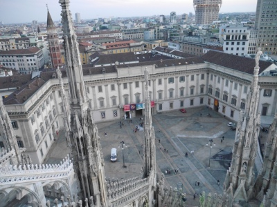 looking down to what was the royal palace and now houses the Duomo Mueum 121159 60
