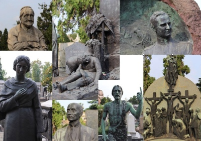 A montage of some of the headstones. The money that has been spent here ...