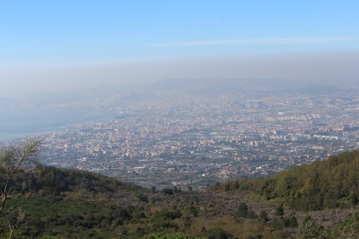 Great view of Naples -huge - although misty.