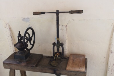 An ancient pasta press in the elderly gent's museum