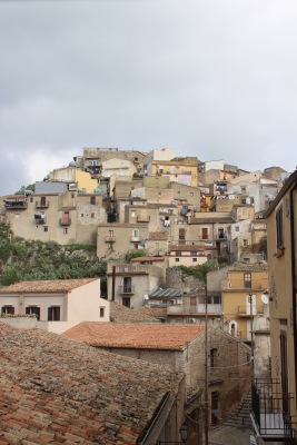 Buildings clinging to the hill side