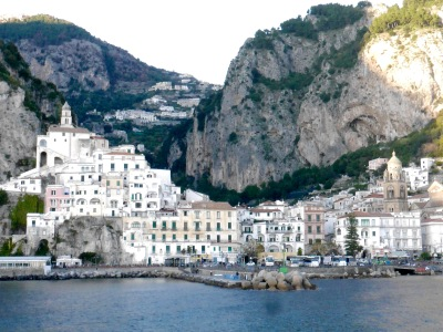 Arriving at Amalfi