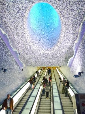 Toledo metro station in the Spanish quarter.