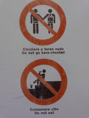 Rules as you enter Taormina .... Really?!?